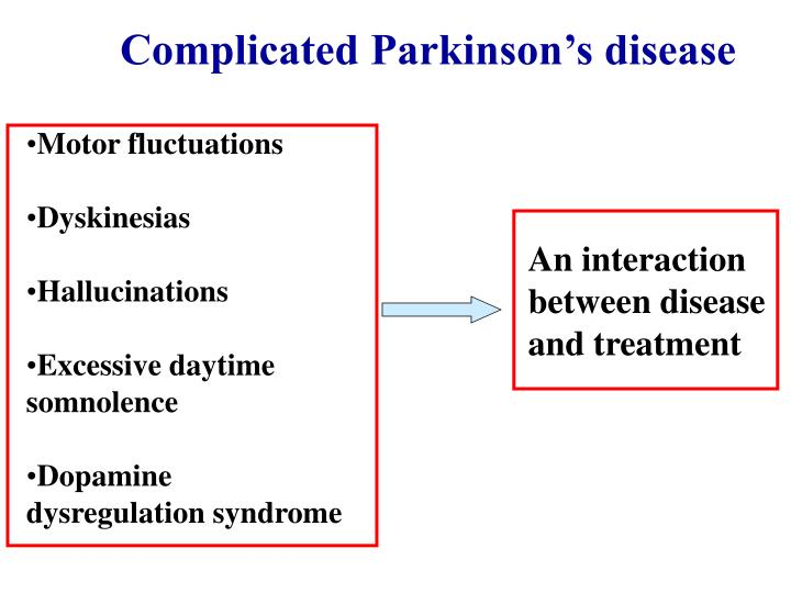 Complicated Parkinson's disease