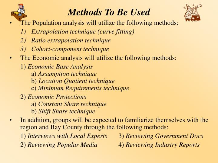 Methods To Be Used