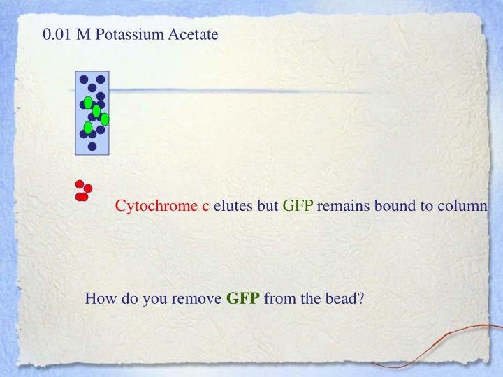 0.01 M Potassium Acetate