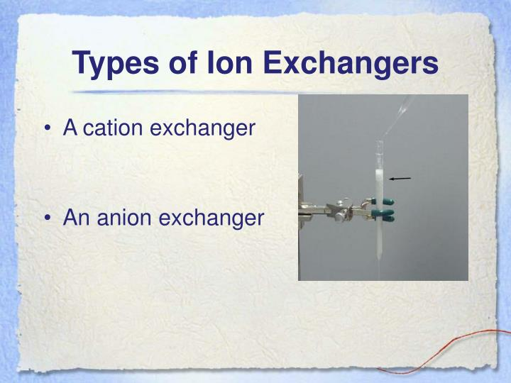 Types of Ion Exchangers