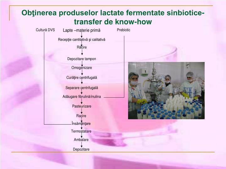 Obţinerea produselor lactate fermentate sinbiotice-transfer de know-how