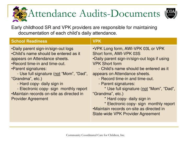 Attendance Audits-Documents