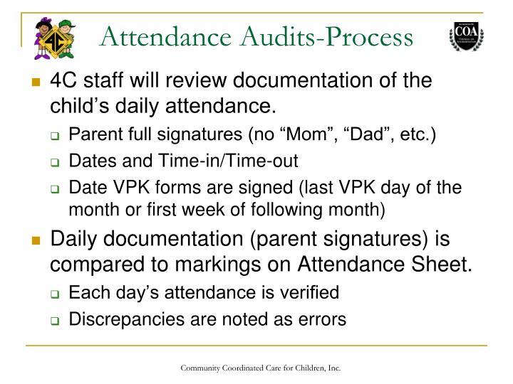 Attendance Audits-Process
