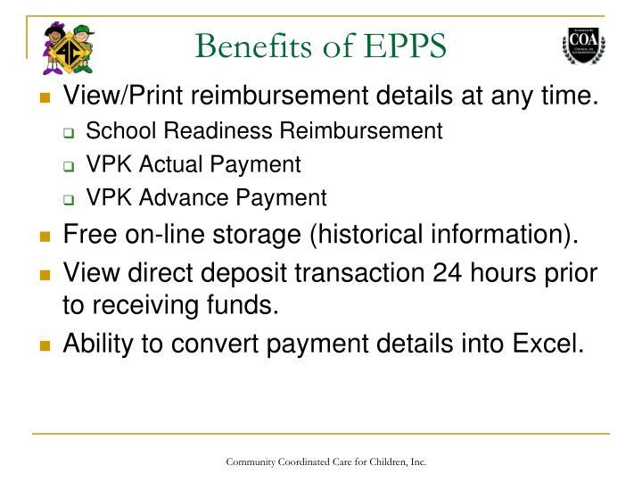Benefits of EPPS