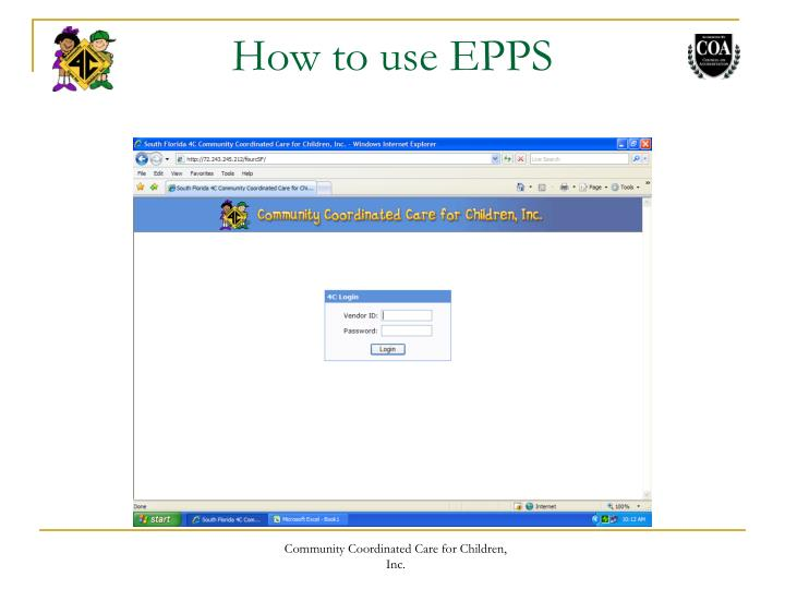 How to use EPPS
