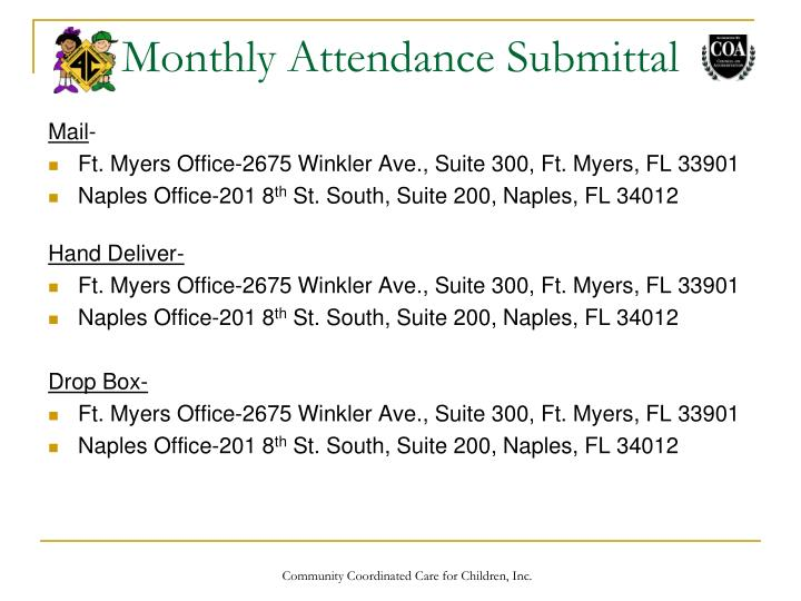 Monthly Attendance Submittal
