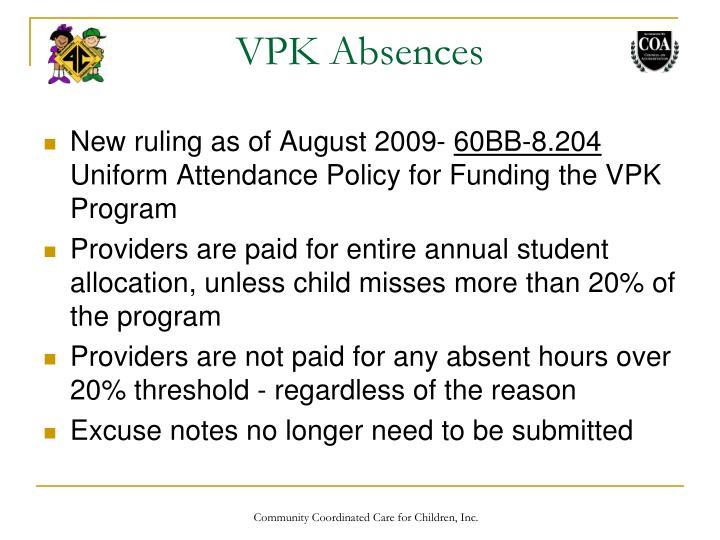 VPK Absences