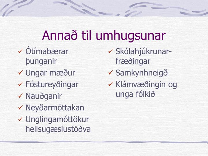 Ótímabærar þunganir