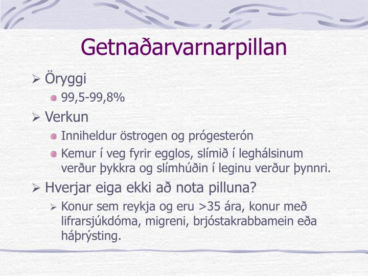 Getnaðarvarnarpillan