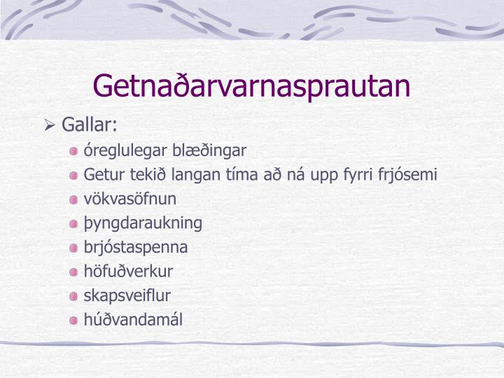 Getnaðarvarnasprautan