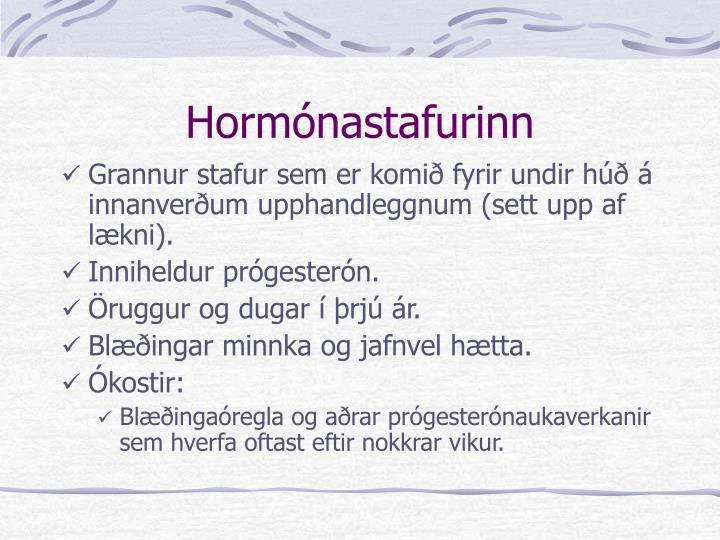 Hormónastafurinn