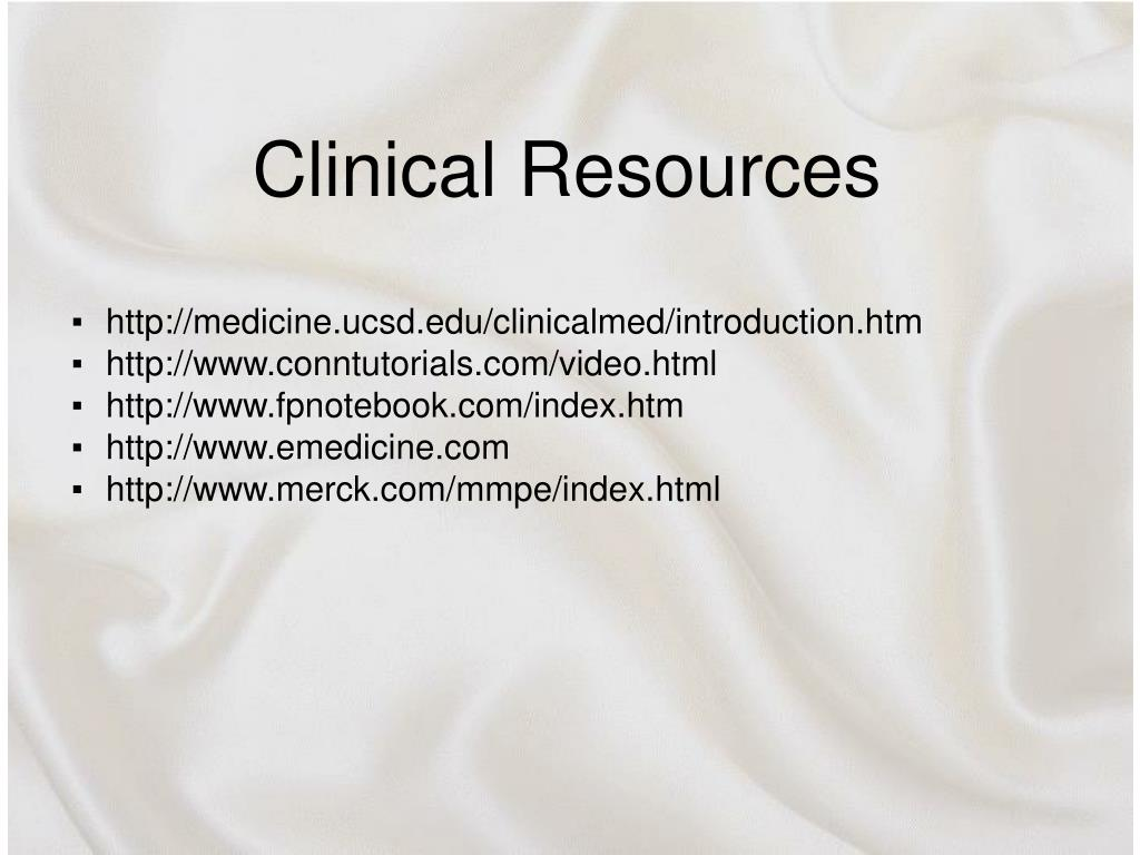 Clinical Resources