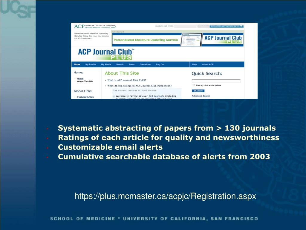 Systematic abstracting of papers from > 130 journals