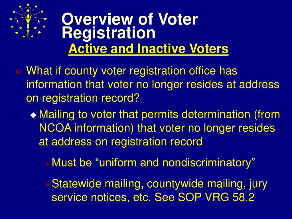 Overview of Voter Registration