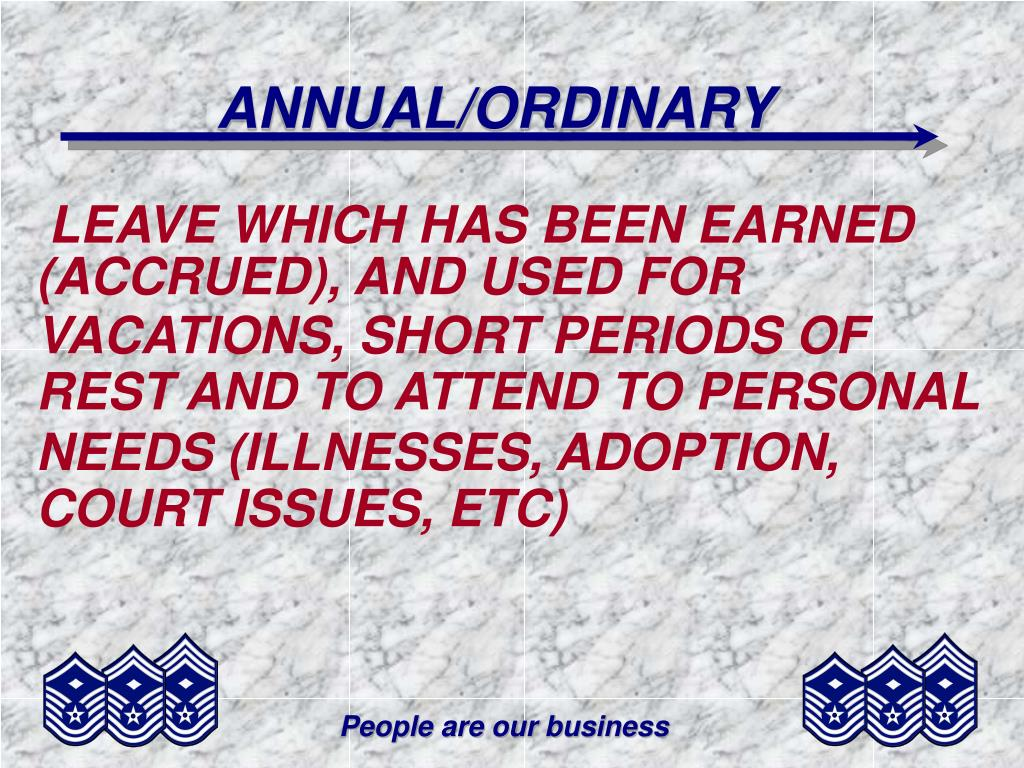 ANNUAL/ORDINARY