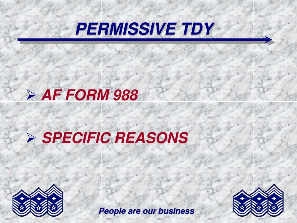 PERMISSIVE TDY