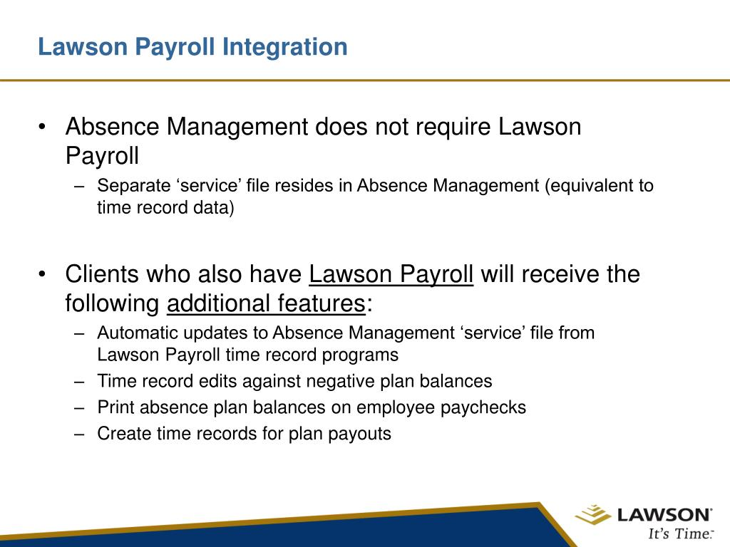 Lawson Payroll Integration