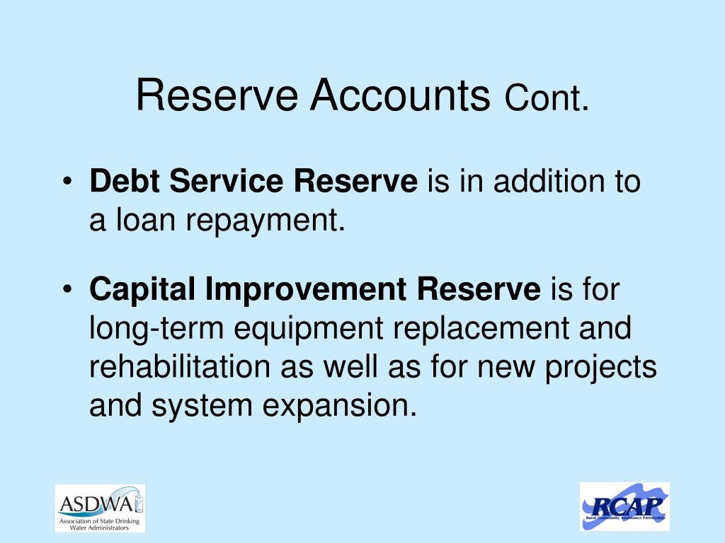 Reserve Accounts