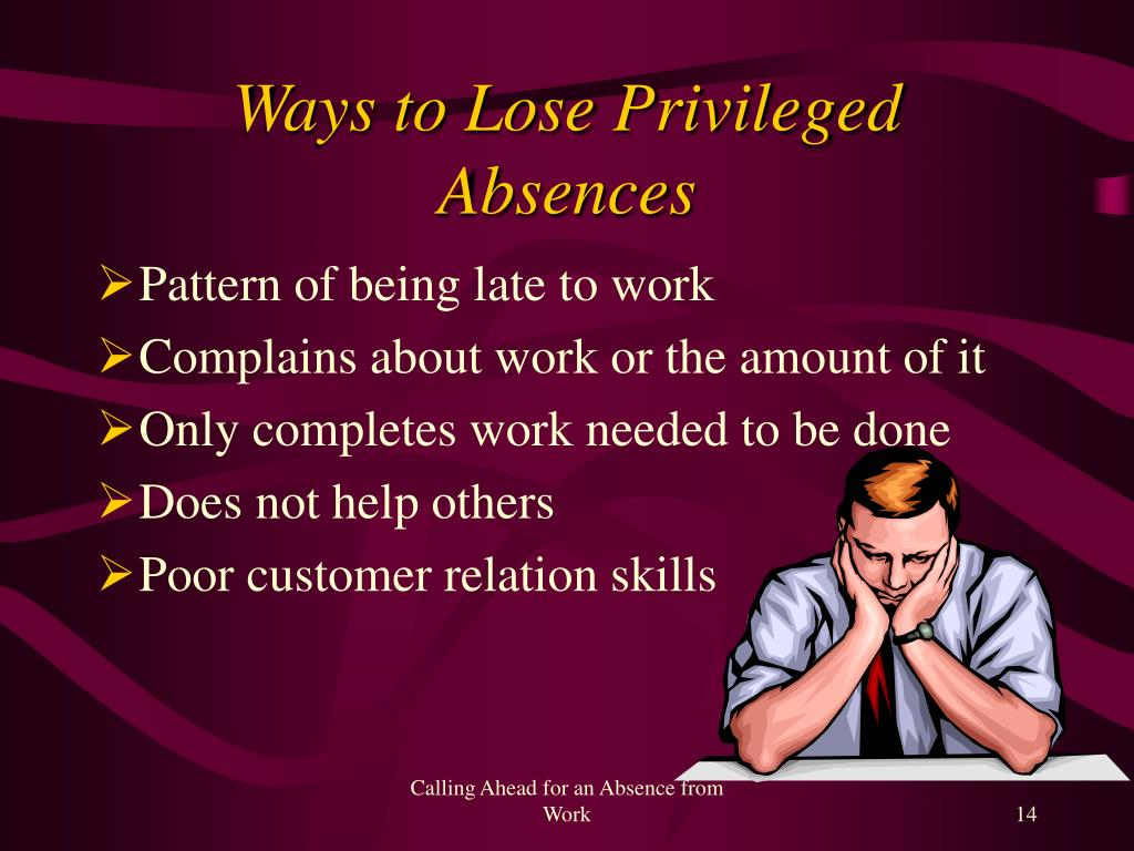 Ways to Lose Privileged Absences