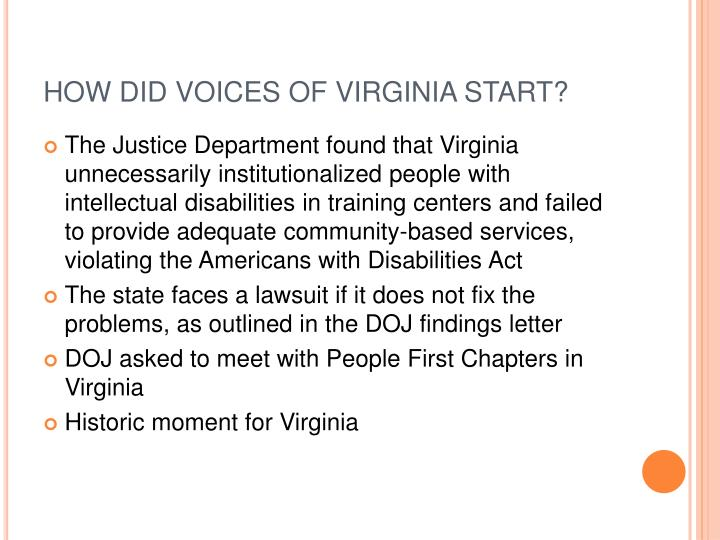 HOW DID VOICES OF VIRGINIA START?