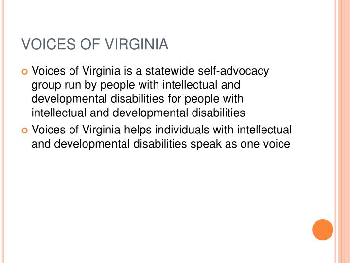 VOICES OF VIRGINIA
