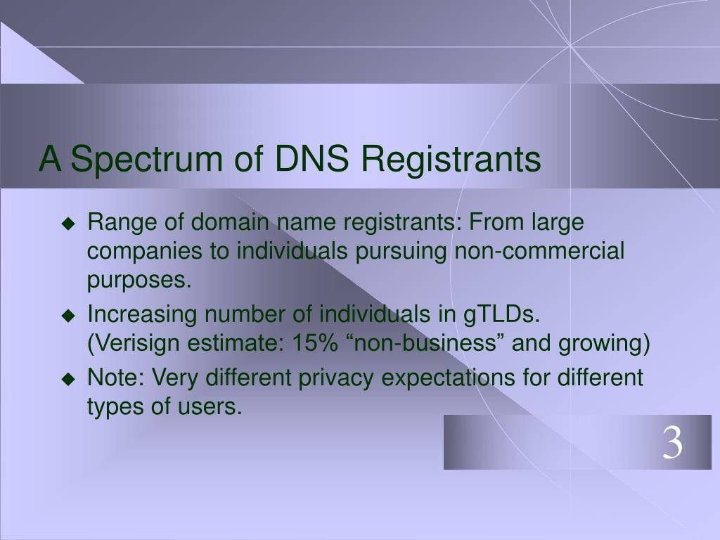 A Spectrum of DNS Registrants