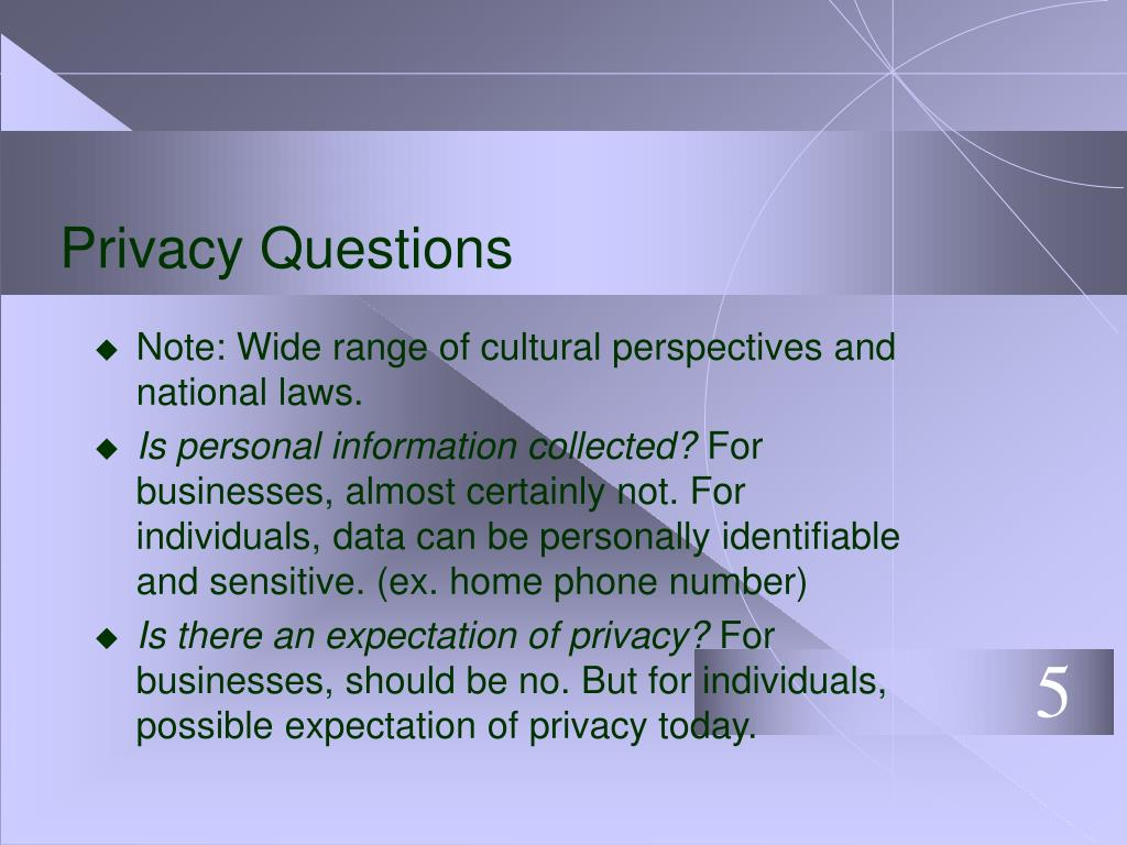Privacy Questions