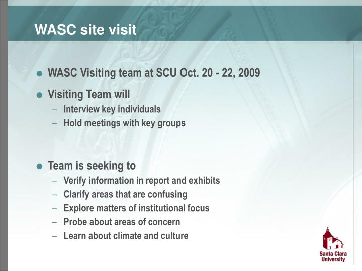 WASC site visit