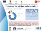economia sociala romania pondere