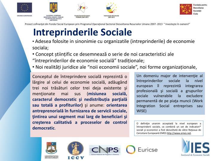 Intreprinderile Sociale