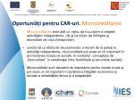oportuni i pentru car uri microcreditarea
