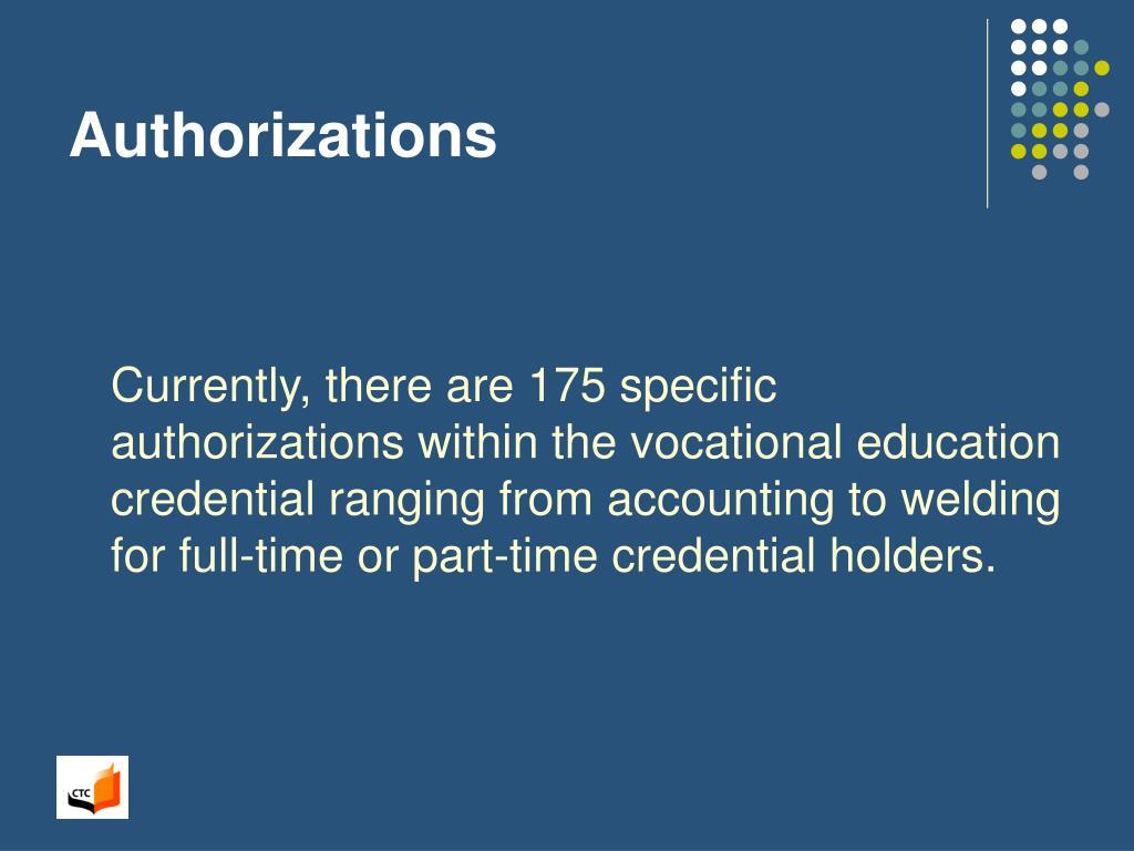 Authorizations