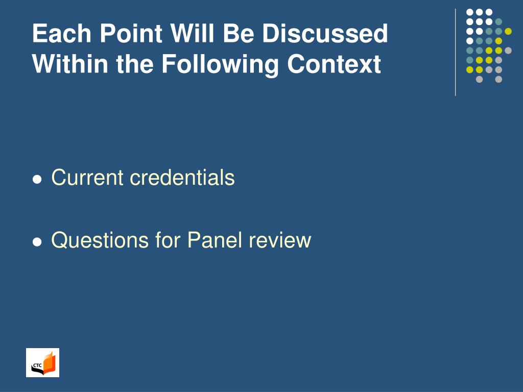 Each Point Will Be Discussed Within the Following Context