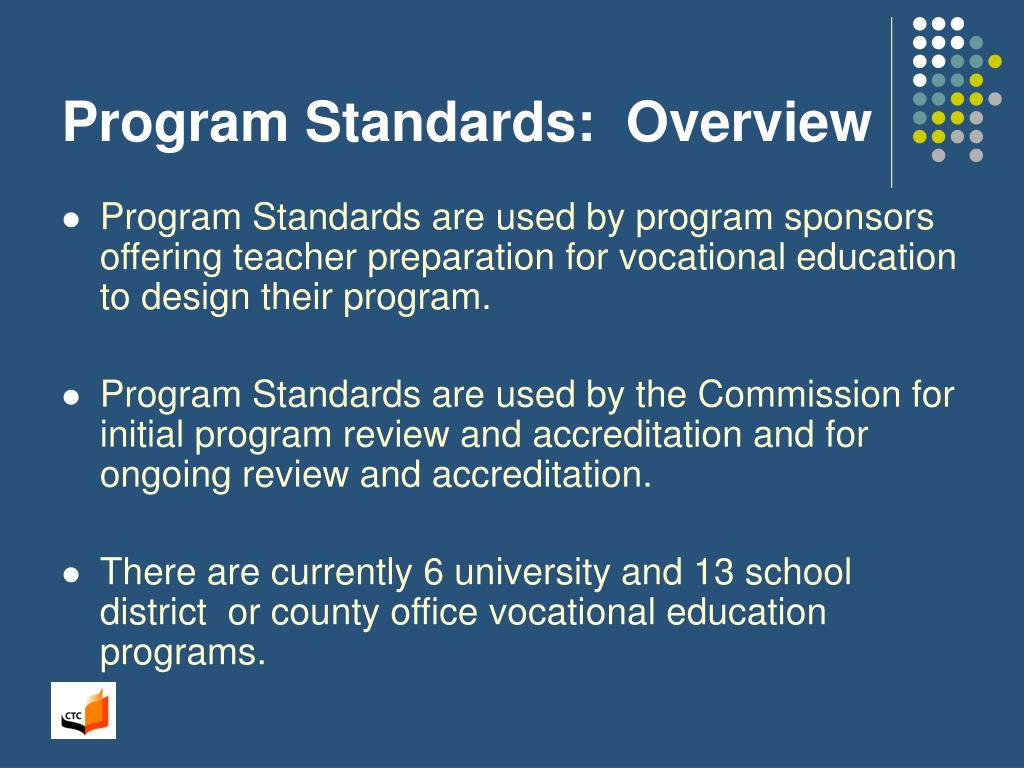 Program Standards:  Overview