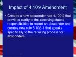 impact of 4 109 amendment