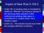 impact of new rule 5 103 210