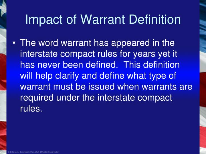 Impact of warrant definition