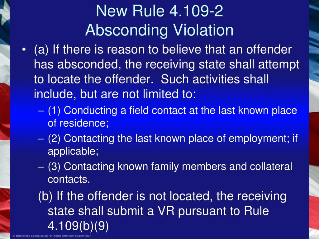 New Rule 4.109-2
