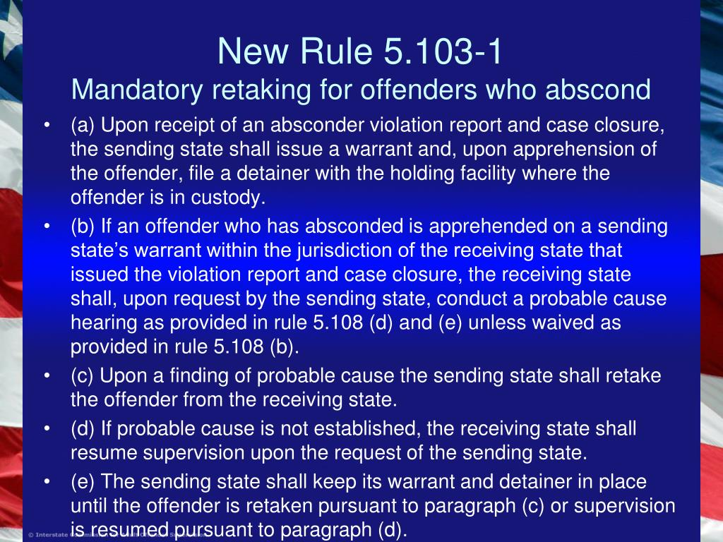 New Rule 5.103-1
