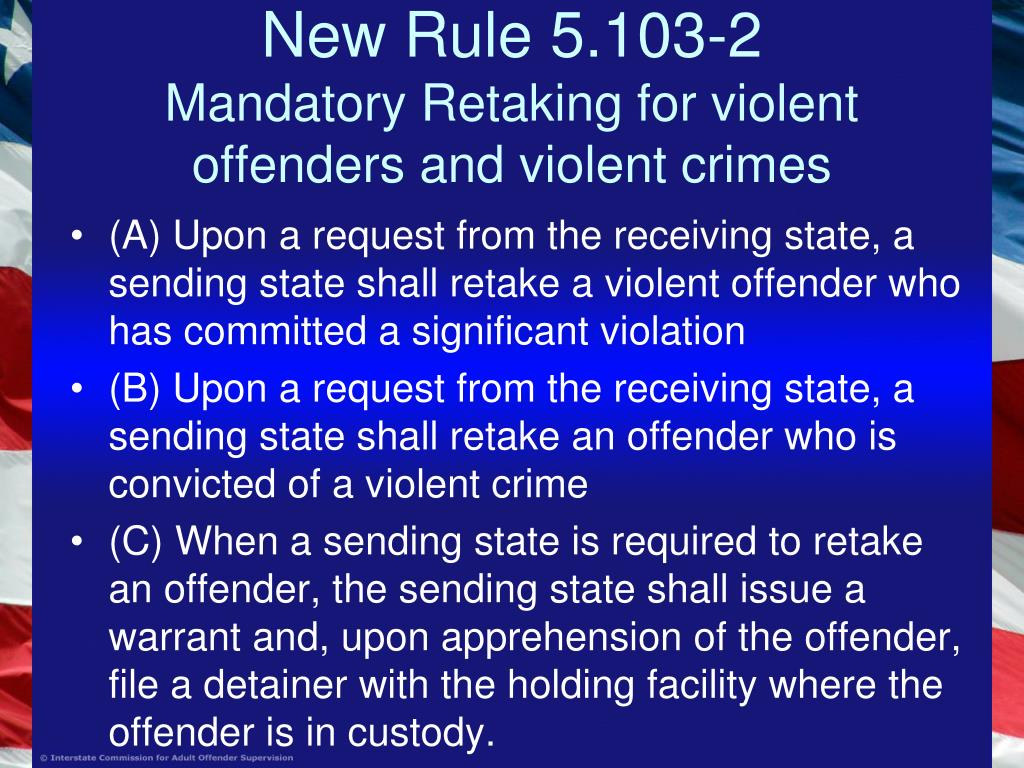 New Rule 5.103-2