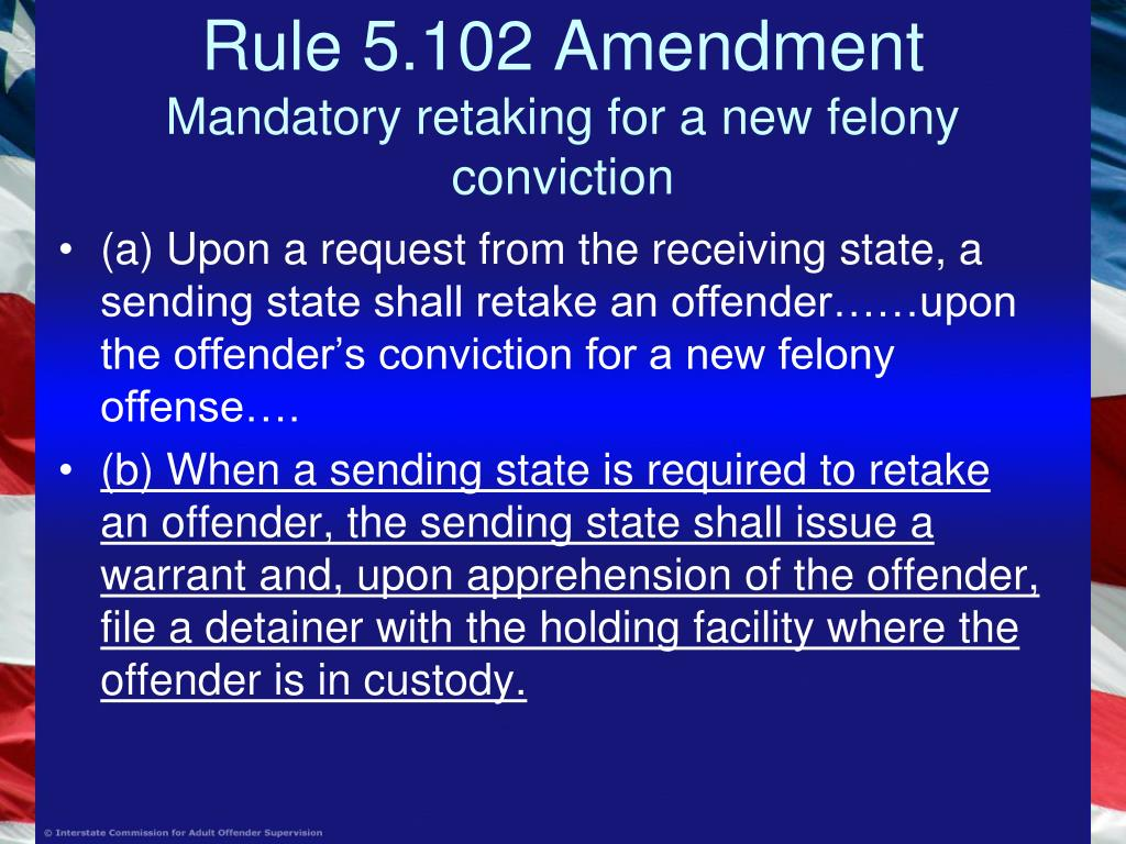 Rule 5.102 Amendment
