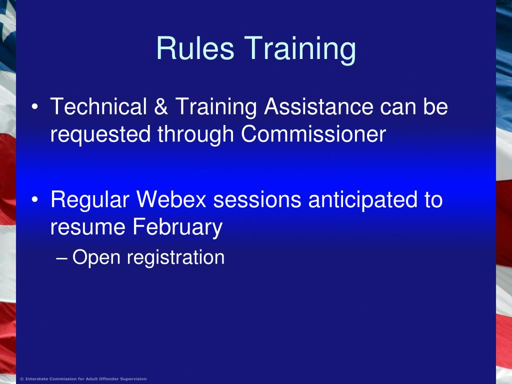 Rules Training