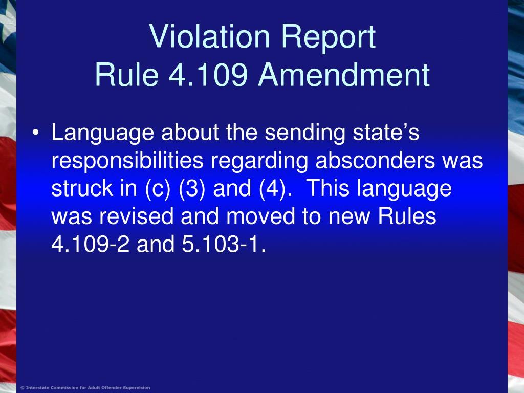 Violation Report