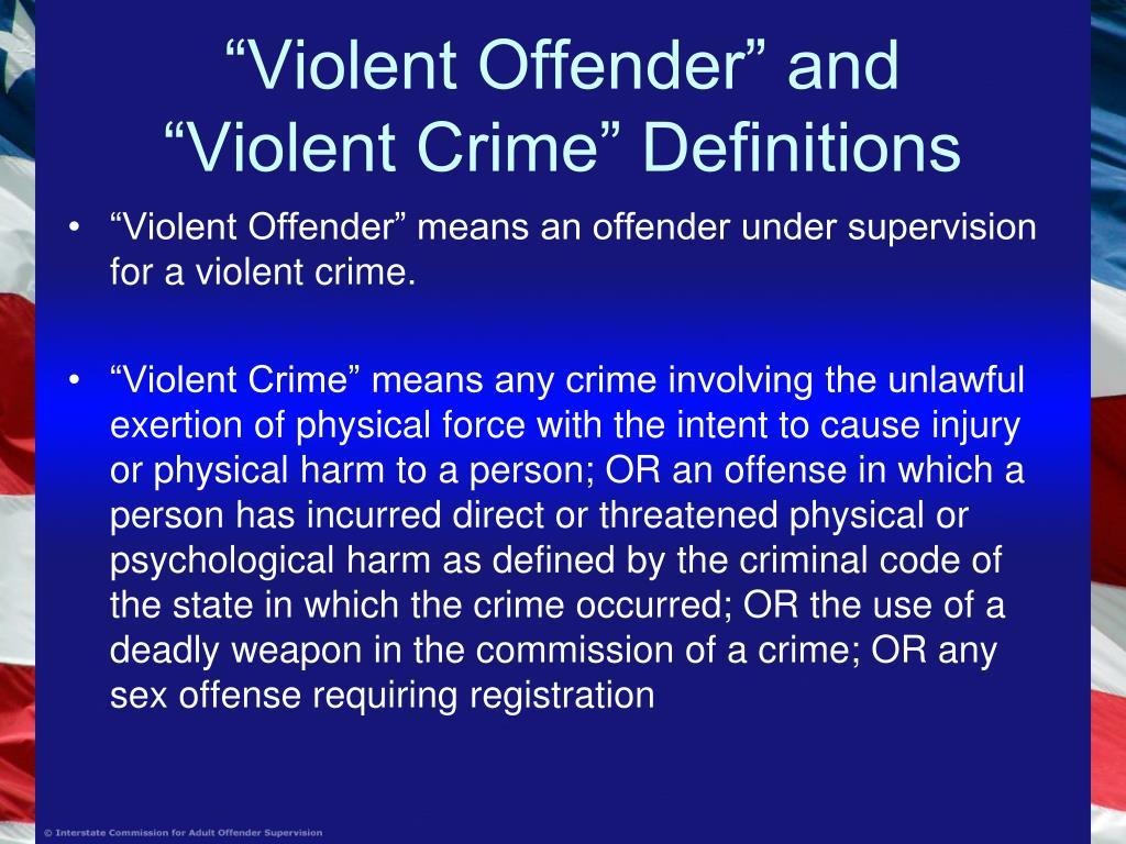 """""""Violent Offender"""" and"""