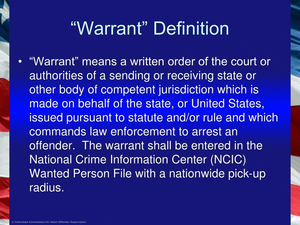"""Warrant"" Definition"