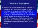 warrant definition