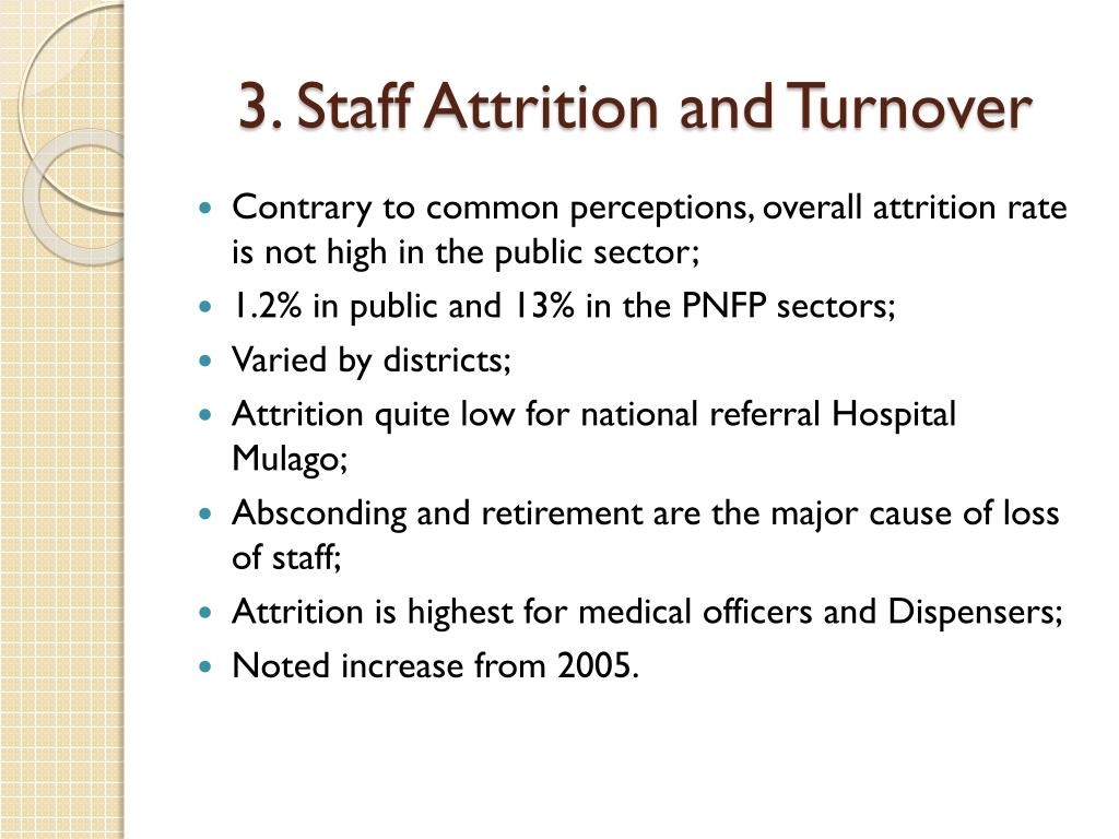 3. Staff Attrition and Turnover