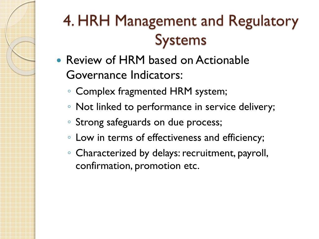 4. HRH Management and Regulatory Systems