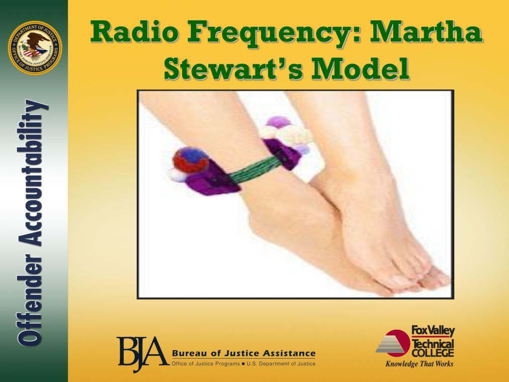 Radio Frequency: Martha Stewart's Model