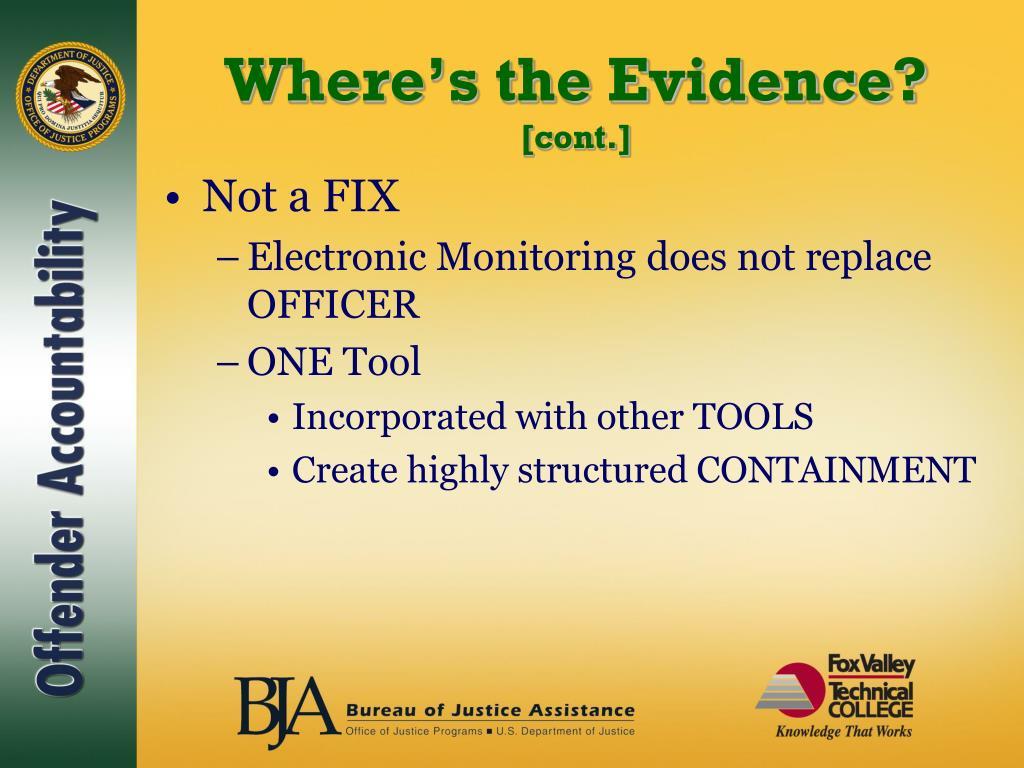 Where's the Evidence?